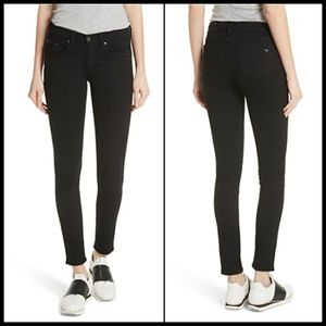 Rag & Bone Ankle Skinny Black Low Rise Jeans 25